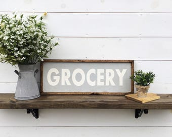 Grocery Sign Kitchen Sign CUSTOM COLORS AVAILABLE