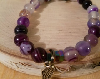 Purple Agate Ascension Bracelet
