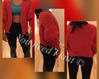 Chunky merino sweater/ cropped merino cardigan/ cropped merino cardi/ cropped cardigan/ snuoowr croppwd cardigan/ loopy mango cardigan