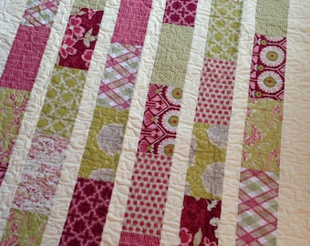 Modern Meadow Lap or Baby Quilt-- pattern also available