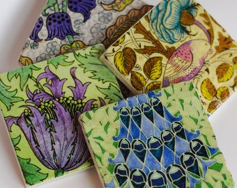 Vintage Purple Floral - coaster set