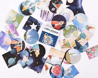 40 PCS, Little Prince stickers, Le Petit Prince, Le Petit Prince sticker, Little Prince, Lifelog stickers 72