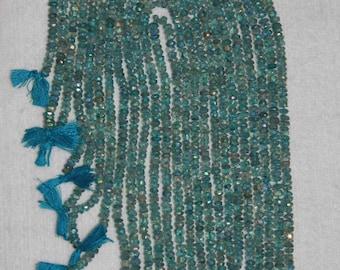 AB, AB Fluorite, 4-5 mm, Blue Green Fluorite, Fluorite Rondelle, Faceted Rondelle, Semi Precious, Gemstone Bead, Full Strand, AdrianasBeads