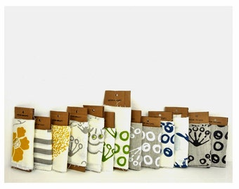 Fabric Swatches - celina mancurti - hand-screen printed linen - Free Shipping to USA