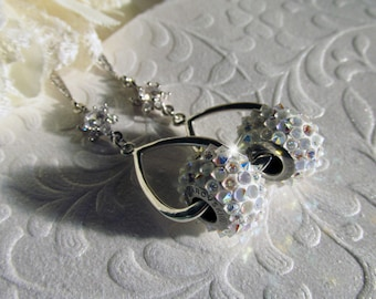Swarovski Crystal and Rhinestone Drop Earrings, Hollywood Glamour, Bridal Earrings, Great Gatsby, Wedding