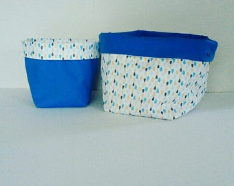 Reversible storage baskets