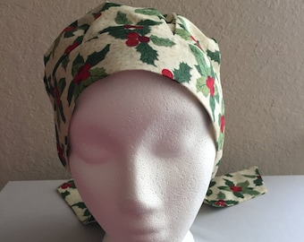 Women's Cancer Hat - Chemo Hat - Scrub Cap - Hair Loss - Head Coverings - Chemo Comfort - Holly