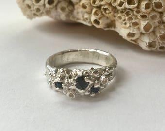 Sapphire Crustaceans Statement Ring