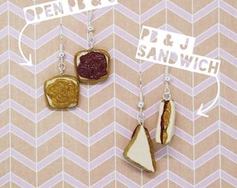 PB & J Sandwich Earrings