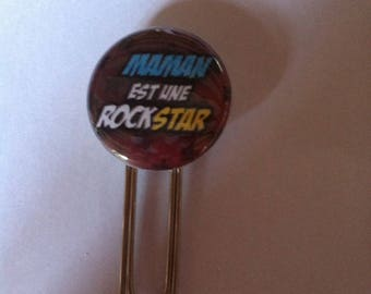 Pretty MOM paperclip bookmark is a rock star