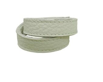 Double Wrap Leather Bracelet CHALK White Leather Wrap cuff bracelet Leather Bangle Leather Strap Cuff Leather Band Bracelet Matching Belt