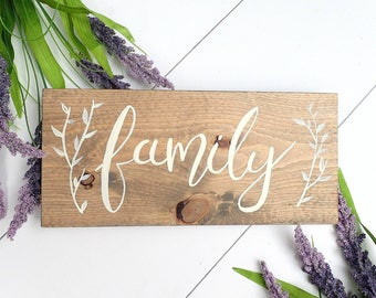 Family Sign, Wood Sign, Gallery Wall, Rustic Wood Decor, Rustic Decor, Gift For Mom, Housewarming Gift, Christmas Gift, Farmhouse decor