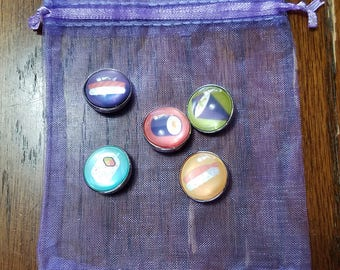 18mm Snap Button Charms - Sushi