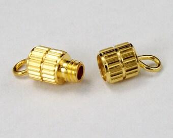 17mm Gold Barrel Clasp #CLA004