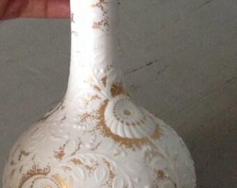 Kasier Exclusive Fütterer SIRACUSA  Engraved GIlded Onion Vase Krohach Bavaria Germany