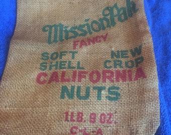California Nuts Burlap Bag