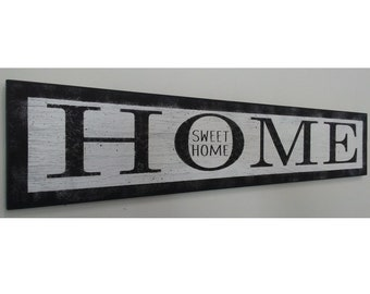 Home Sweet Home Wood Sign Home Decor Wall Decor Housewarming Gift Distressed Wood Sign