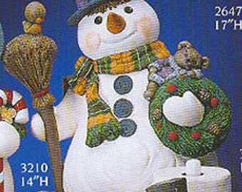 "Gare Large Snowman 26"" ready to paint ceramic bisque"