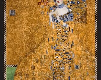 Portrait of Woman Gustav Klimt Art Kaufman Fabric Panel