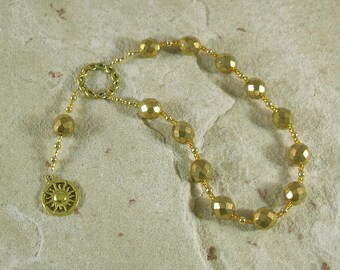 Helios Pocket Prayer Beads: Greek God of the Sun, All-Seeing Observer, Witness of Oaths
