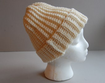 Ribbed Crochet Hat ~ Ready to ship