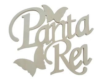Written in wood Panta Rei (everything flows)