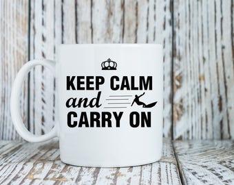 Keep Calm and Carry On Mug Print Art Ceramic Mug