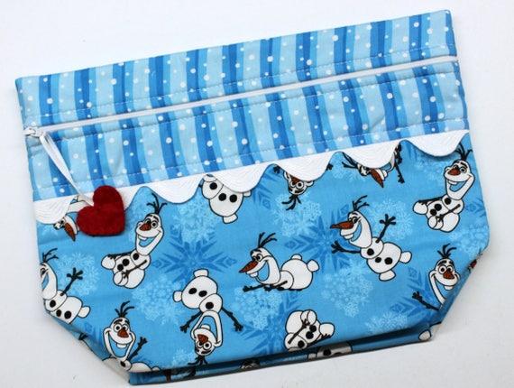 Lil' Big Bottom  Olaf Cross Stitch Embroidery Bag