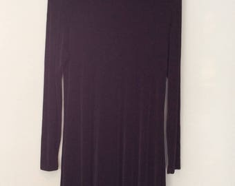 1990s Black Dress Mock Turtleneck Stretchy