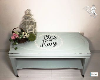 Cottage Shabby Chic Antique Coffee Table