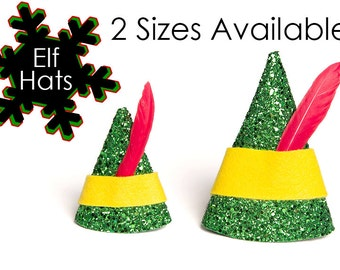 Elf Hat Buddy the Elf Hat Buddy the Elf Mini Hat Christmas Hat 2 SIZES AVAILABLE