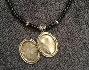 Locket Beaded Necklace