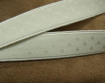 Ribbon - 2 cm - white velvet elastic