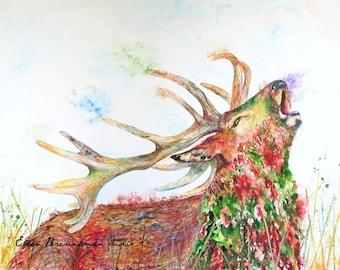 Deer art print: deer artwork deer art decor deer lover art deer antler art deer cabin art deer wall art deer wall decor deer gift ideas