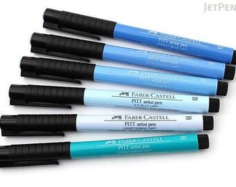 PITT Artist Brush Pens - Shades of Blue - 6 Pen Set - Perfect for Bible Journaling!