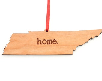 Tennessee home. Christmas Ornament - TN Tennessee Ornament - Home Christmas Ornament