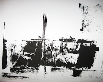 Abstract Minimal No. 1919 Ink on Paper 11x14 Modern