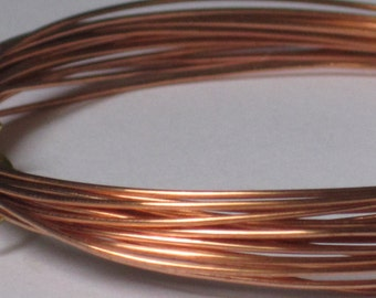 Raw Copper Wire -- 22 gauge   (Qty 10 ft)    65-115