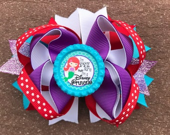Little Mermaid bow Little mermaid BIRTHDAY bow mermaid bow mermaid birthday ariel bow the little mermaid bow