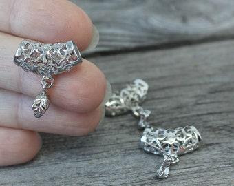 Brass Pendant Bail, 5pcs Jewelry Bails, Necklace Pinch Bails