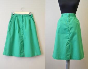 1980s Wrangler Green Twill Skirt