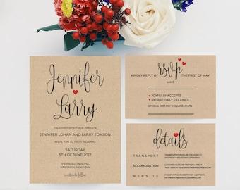 Wedding Invitation Kits Etsy NZ