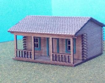 Train Time Laser HO Scale Log Cabin Building Kit