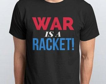 War Is A Racket Black 100% Cotton Tee Shirts by MHA