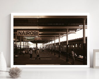 TRAIN station, Nairobi, KENYA, Fine Art Print, Travel Picture, Africa, Landscape, Photography, ld_002