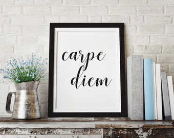 Carpe Diem, scandinavian art, Carpe Diem printable, Seize the day, tipography poster, printable art, printable wall art, poster