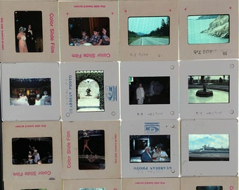 Lot of 800+ vintage 70s color photo 35mm slides with trays in boxes photography photo slide vacation Hawaii estate lot Hula dancers