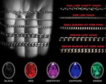 CHAIN & COLOR GUIDE - Info for Large Pendants