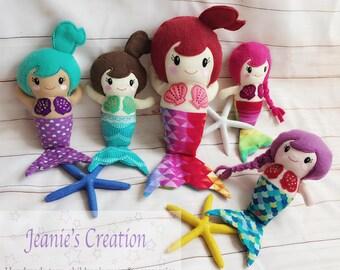 Mermaid Doll - Mermaid - Personalized Stuffed mermaid - Customize Mermaid - Mermaid stuffed toy - Mermaid plushie - Mermaid plush