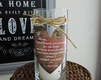 Mom Candle Holder | Mom Gift | Mom Birthday Gift | Mom Candle | Gift for Mom | Mother's Day Gift | Mom Appreciation | Mom Quote Gift